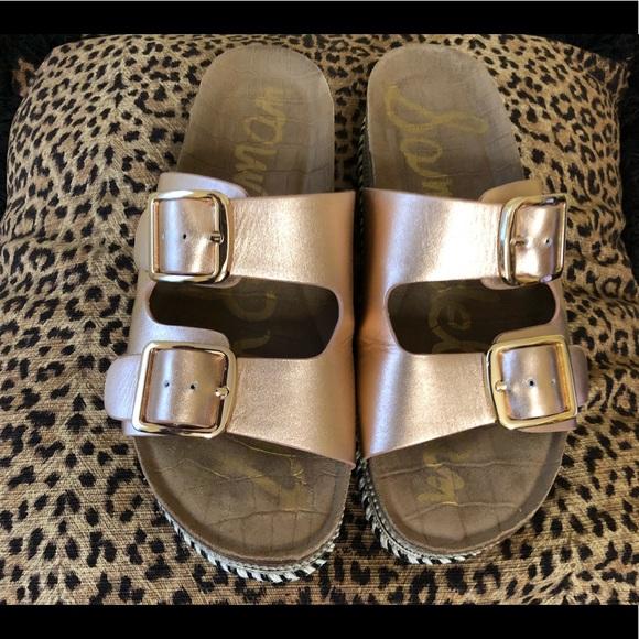 069ca9e5204 Sam Edelman Oakley blush platform slide sandals. M 5b9338fda31c3328df0f13ad